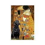 The Kiss & Black Lab Rectangle Magnet
