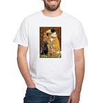 The Kiss & Black Lab White T-Shirt