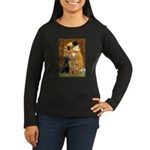 The Kiss & Black Lab Women's Long Sleeve Dark T-Sh