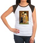 The Kiss & Black Lab Women's Cap Sleeve T-Shirt