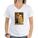 The Kiss & Black Lab Women's V-Neck T-Shirt
