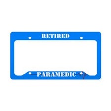 Retired Paramedic License Plate Holder