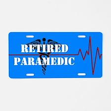 Retired Paramedic Aluminum License Plate