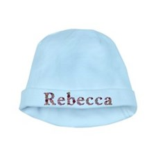 Rebecca Pink Flowers baby hat
