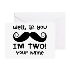 2nd Birthday Mustache Greeting Card