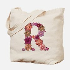 R Pink Flowers Tote Bag