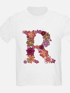 R Pink Flowers T-Shirt