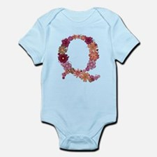 Q Pink Flowers Body Suit