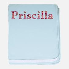 Priscilla Pink Flowers baby blanket