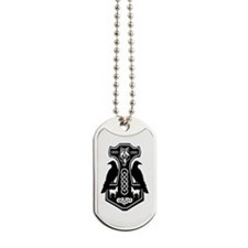 Thors Hammer With Ravens Dog Tags
