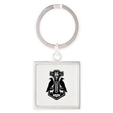 Thors Hammer With Ravens Keychains