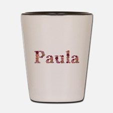 Paula Pink Flowers Shot Glass