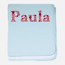 Paula Pink Flowers baby blanket