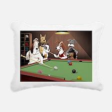 Cartoon Dogs Playing Poo Rectangular Canvas Pillow