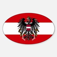 Austria w/ coat of arms Rectangle Decal