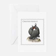 Crested Auklet Greeting Cards (Pk of 10)