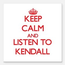 Keep Calm and listen to Kendall Square Car Magnet