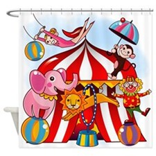 The Circus Is In Town Shower Curtain