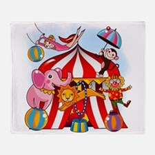 The Circus Is In Town Throw Blanket