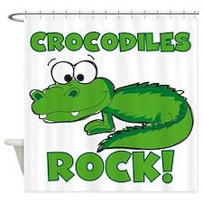 Crocodiles Rock Shower Curtain