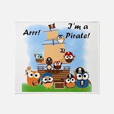 Arrr Im A Pirate Throw Blanket