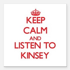 Keep Calm and listen to Kinsey Square Car Magnet 3