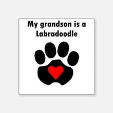 My Grandson Is A Labradoodle Sticker