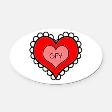 GFY Heart Oval Car Magnet