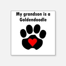My Grandson Is A Goldendoodle Sticker