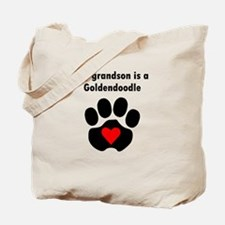 My Grandson Is A Goldendoodle Tote Bag