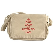 Keep Calm and listen to Laci Messenger Bag