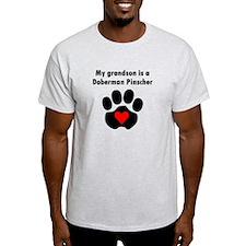 My Grandson Is A Doberman Pinscher T-Shirt