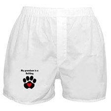 My Grandson Is A Bulldog Boxer Shorts