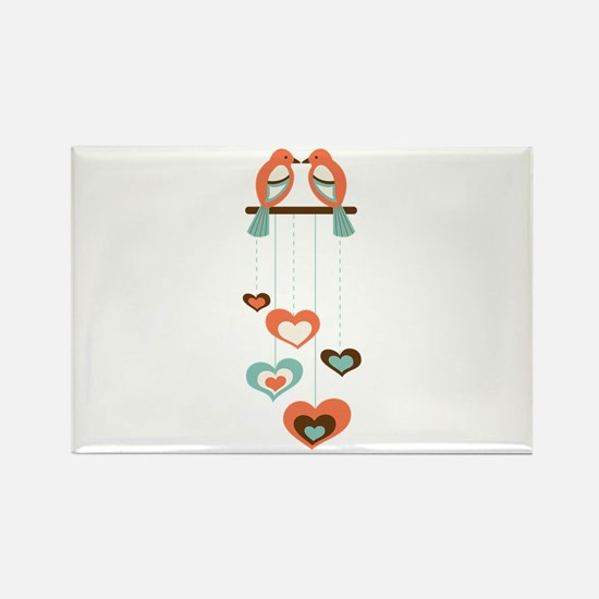 Love Bird Chime Magnets