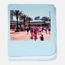 New Orleans Riverfront baby blanket