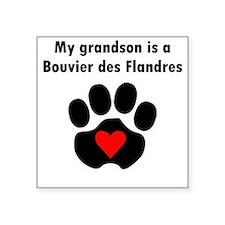 My Grandson Is A Bouvier des Flandres Sticker