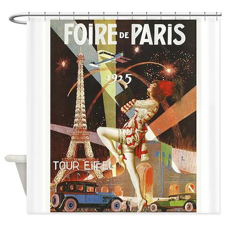 Foire de paris eiffel tower vintage poster showe by vintagevivian - Presse agrume foire de paris ...