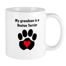 My Grandson Is A Boston Terrier Mugs
