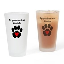 My Grandson Is An Airedale Drinking Glass