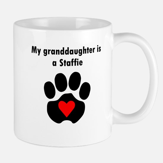 My Granddaughter Is A Staffie Mugs