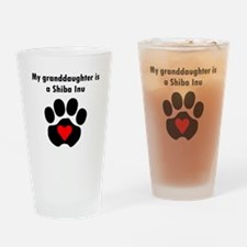 My Granddaughter Is A Shiba Inu Drinking Glass
