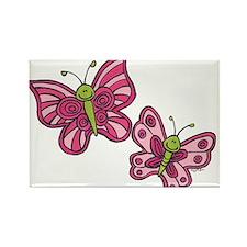 Pink Butterflies Magnets