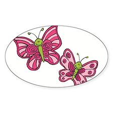 Pink Butterflies Decal