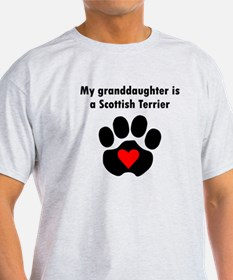 My Granddaughter Is A Scottish Terrier T-Shirt