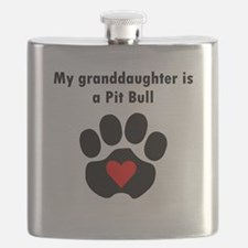 My Granddaughter Is A Pit Bull Flask