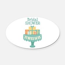Bridal SHOWER GIFTS Oval Car Magnet