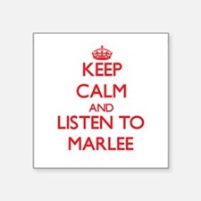 Keep Calm and listen to Marlee Sticker