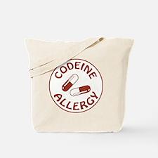 CODEINE ALLERGY Tote Bag