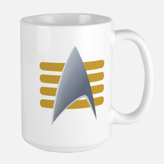 Alt Starfleet Captain Insignia Large Mug