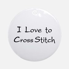 love to cross stitch Ornament (Round)